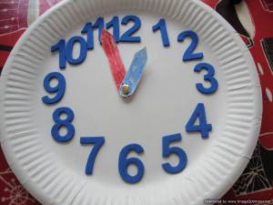 Paper plate clock face
