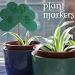 how to make shamrock plant marker