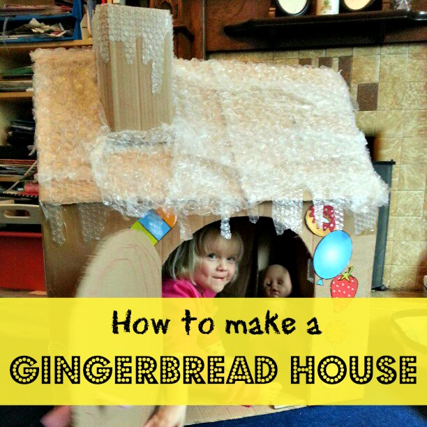 how to make a gingerbread house from a cardboard box