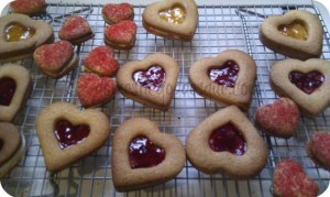 Czech heart shaped biscuits