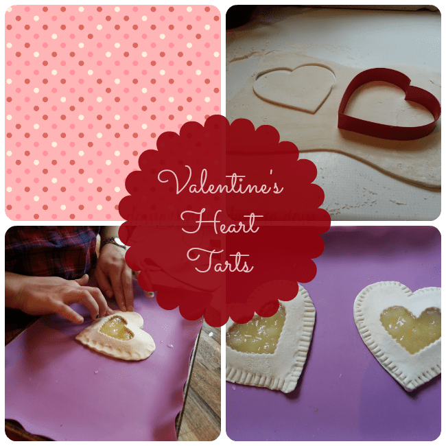 valentine's apple tart hearts