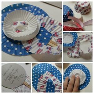 cupcake case rosette