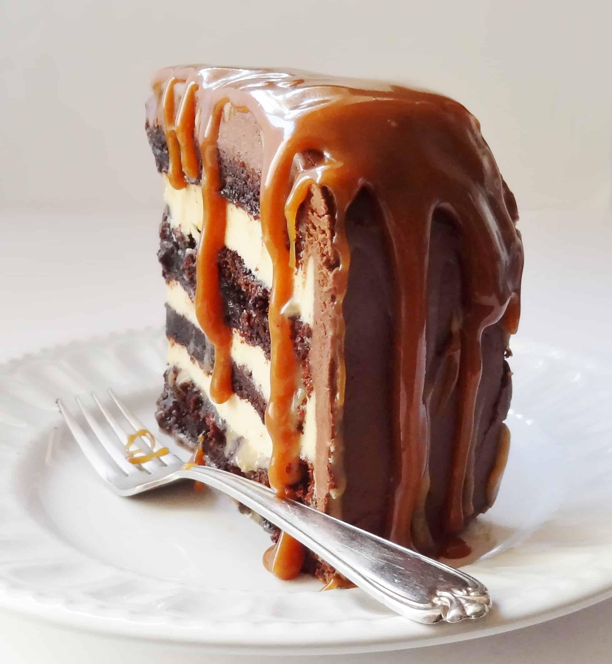 Salted Caramel Chocolate Fudge Cake Domestic Gothess
