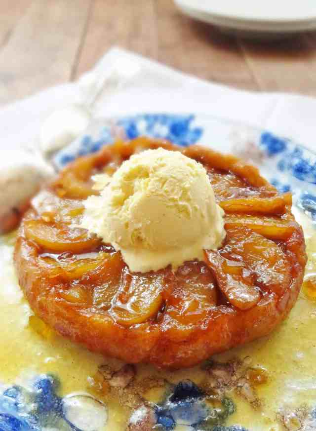 pear and ginger tart tatin for two