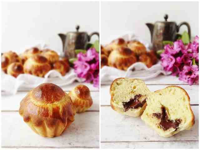 mini chocolate vanilla brioche a tete - Domestic Gothess