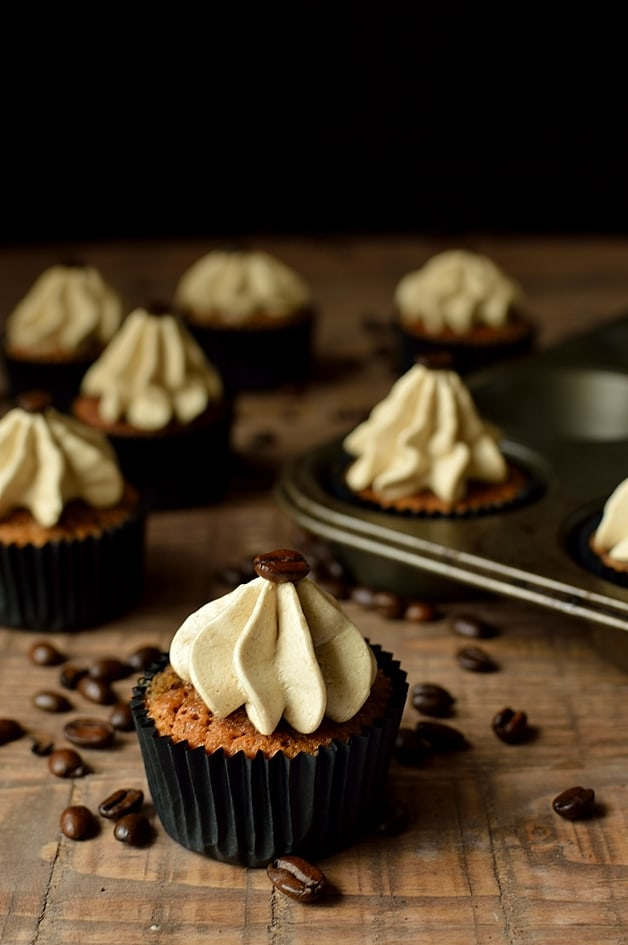Espresso martini cupcakes, a grown up treat based on the popular cocktail