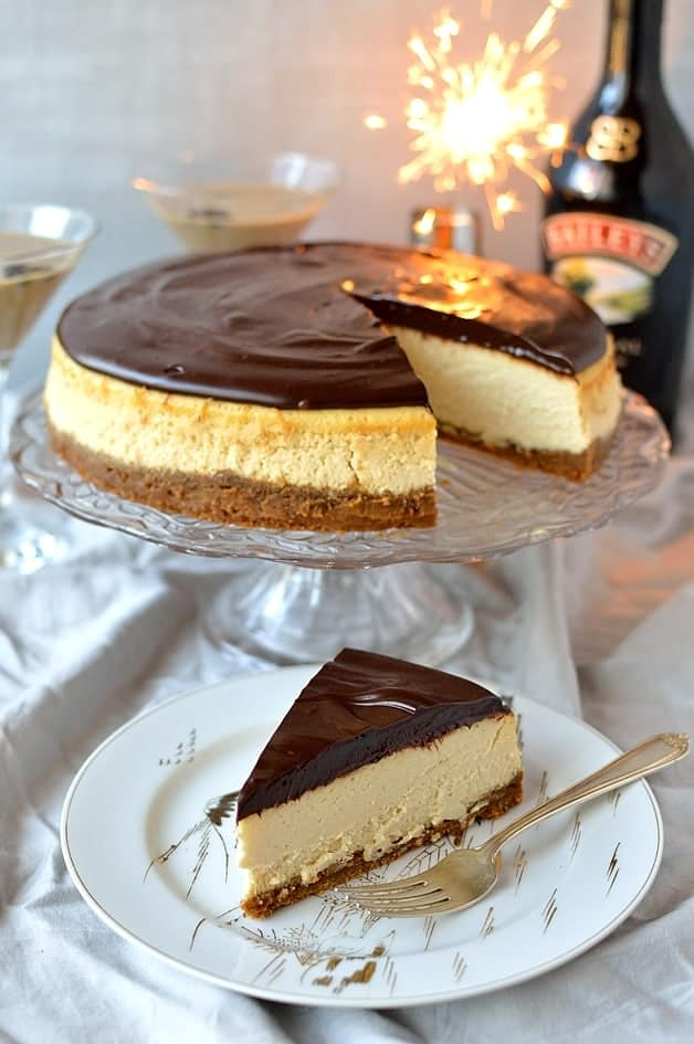 baileys cheesecake with baileys ganache a flat white martini domestic gothess
