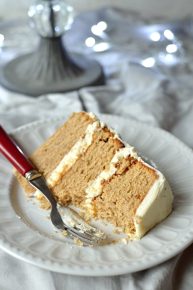 ... layered buttermilk spice cake with creamy vanilla mascarpone frosting