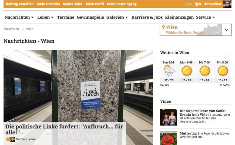 Anderswo: Auf progress-online, im MFG-Magazin und auf meinbezirk.at