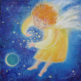 ангел, собирающий звёзды