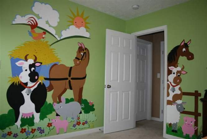 Animal-Wall-Mural-for-Kids-Room