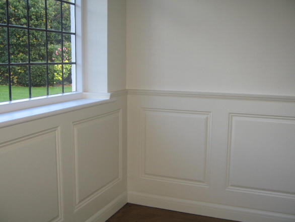 Renaissance Dado Height Panelling Painted Tallow White