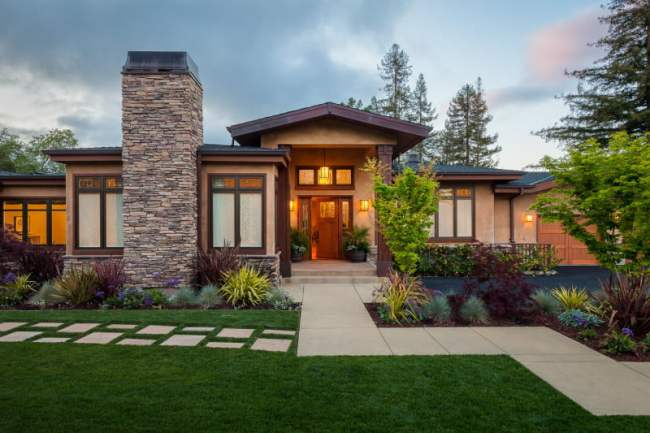 exterior-fascinating-home-exterior-decoration-using-craftsman-style-home-colors-along-with-cream-stone-veneer-home-chimney-and-light-walnut-wood-single-front-doors-fascinating-images-of-home-ar
