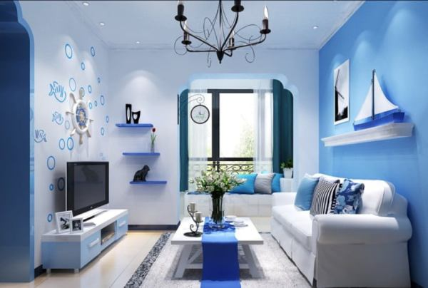 interior-artistic-mediterranean-style-home-interior-blue-living-room-decoration-using-nautical-boat-living-room-wall-decor-including-mount-wall-blue-living-room-shelving-and-light-blue-living-r