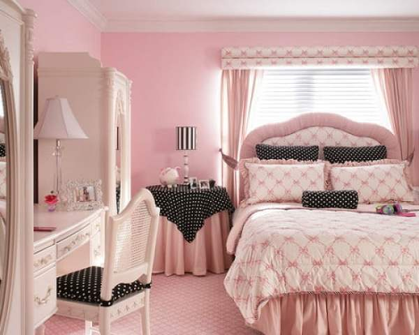 pink_teenage_girl_bedroom_furniture_with_pink_wall_paint_colors_tween_girl_bedroom_furniture_