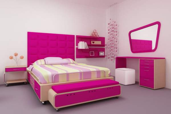 teenager-pink-bedroom-interior-design