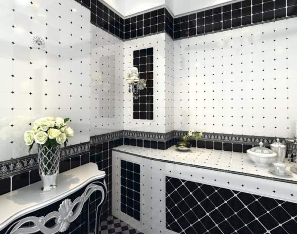 Black-and-white-tiles-for-bathroom-renovation