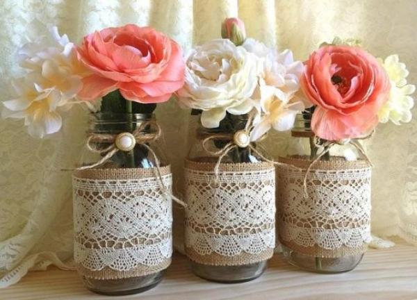3-burlap-and-lace-covered-mason-jar-vases-wedding-deocration-bridal-shower-engagement-anniversary-party-decor