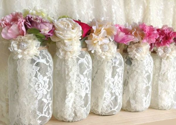 5-ivory-lace-covered-ball-mason-jar-vases-wedding-decoration-engagement-anniversary-or-home-deocration