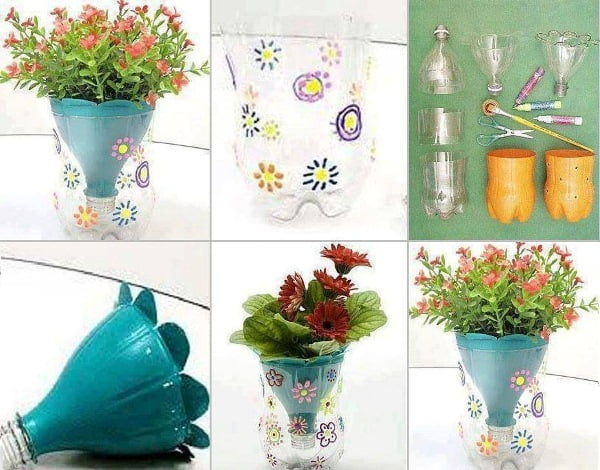 flowers-pot-made-from-plastic-bottles