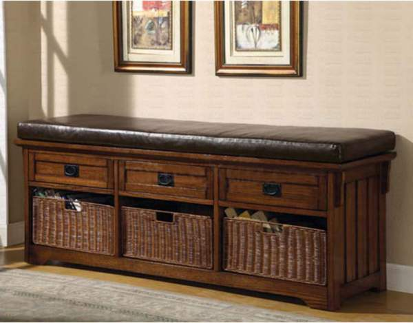 coaster-dark-oak-storage-bench-501060