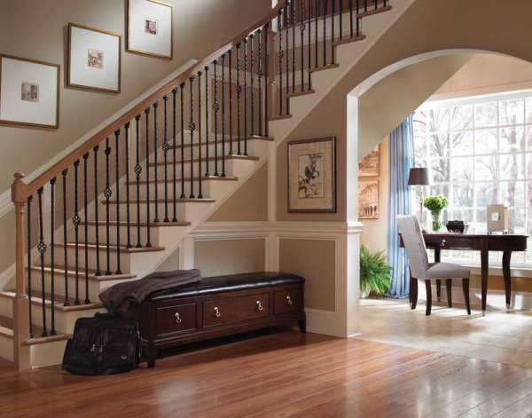 hallway-stairs-with-wooden-furniture-ideas