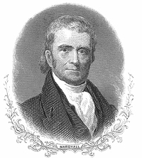 John Marshall, who served as Chief Justice of the Supreme Court of the United States from 1801 to 1835, is credited with elevating the Supreme Court to its current position and laying the foundation for U.S. constitutional law jurisprudence.