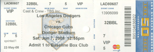 1-Dodger Stadium ticket 3