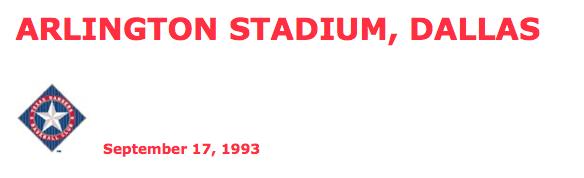 Arlington Stadium header