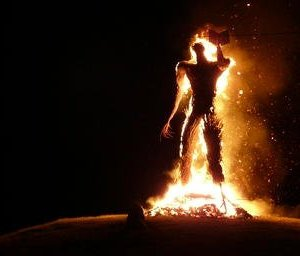 Burning Wicker Man - Lughnasadh - Celtic Quarter Days