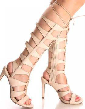 Lace Up Gladiator Sandals Heels 1