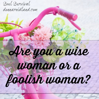 Are you a wise woman or a foolish woman? - The Bible has a great deal to say about wisdom and the flip side, foolishness. In this series we'll look at what it means to be wise and, by comparison, what it means to be foolish. And how we sometimes end up on the wrong side without even realizing it.