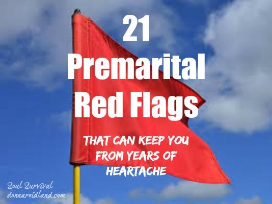 """21 Premarital Red Flags"" August 30"