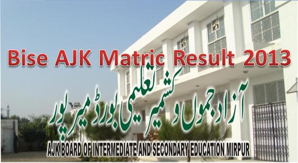 AJK Bise SSC Annual Result 2013