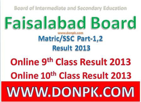 Bisefsd SSC Part-II Result 2013