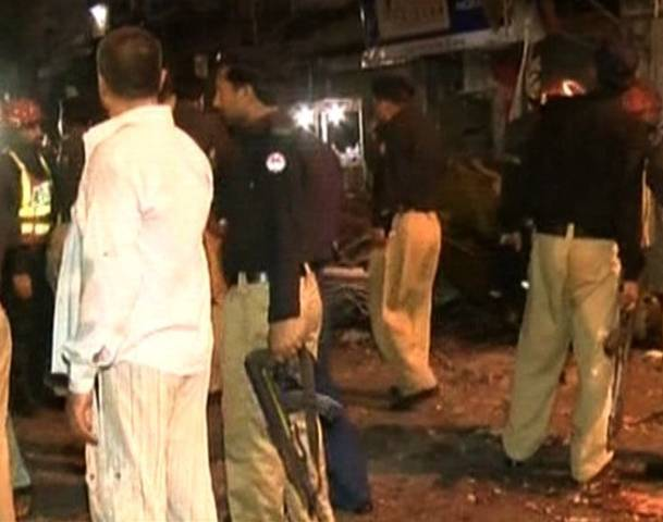 Lahore Old Anarkali Market Blast killing One Person