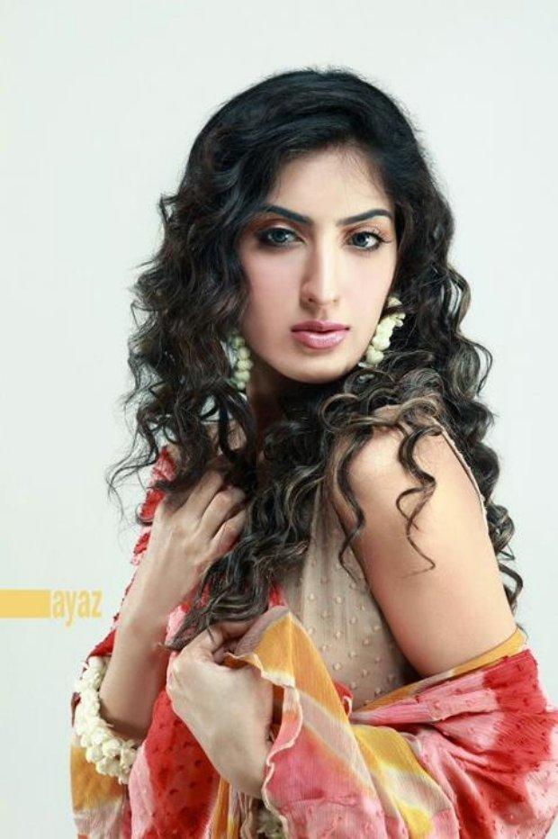 Actress Sana Khan in Bridal makeup