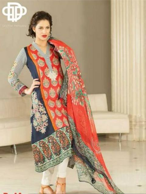 Deepak Perwani Embroidered  lawn Dresses