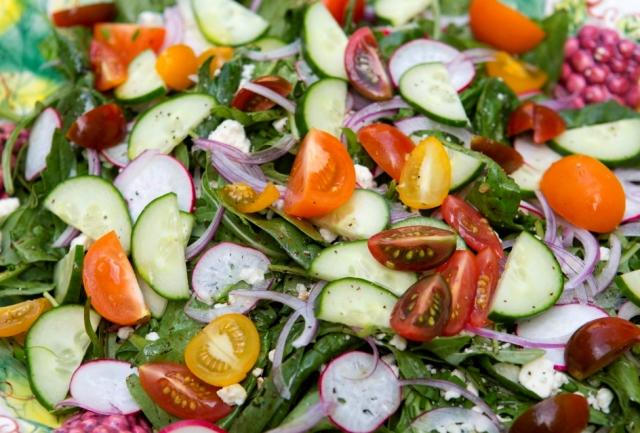 Summer Vegetables Green Salad Recipe