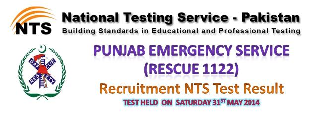 Rescue 1122 NTS Test Result 31st may 2014