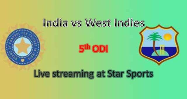 watch live india vs west indies 5th odi match streaming