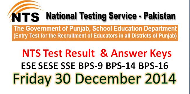 online 30 december  nts written test answer keys
