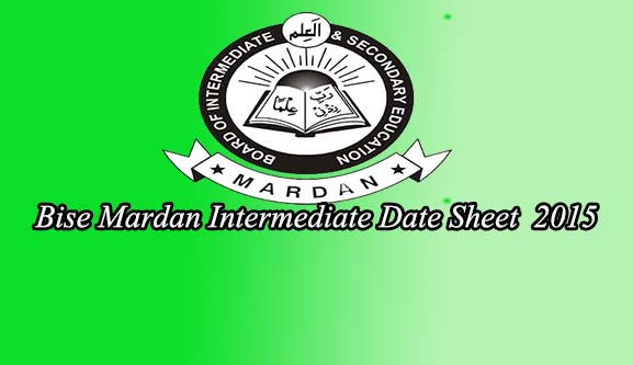 mardan board inter date sheet 2015