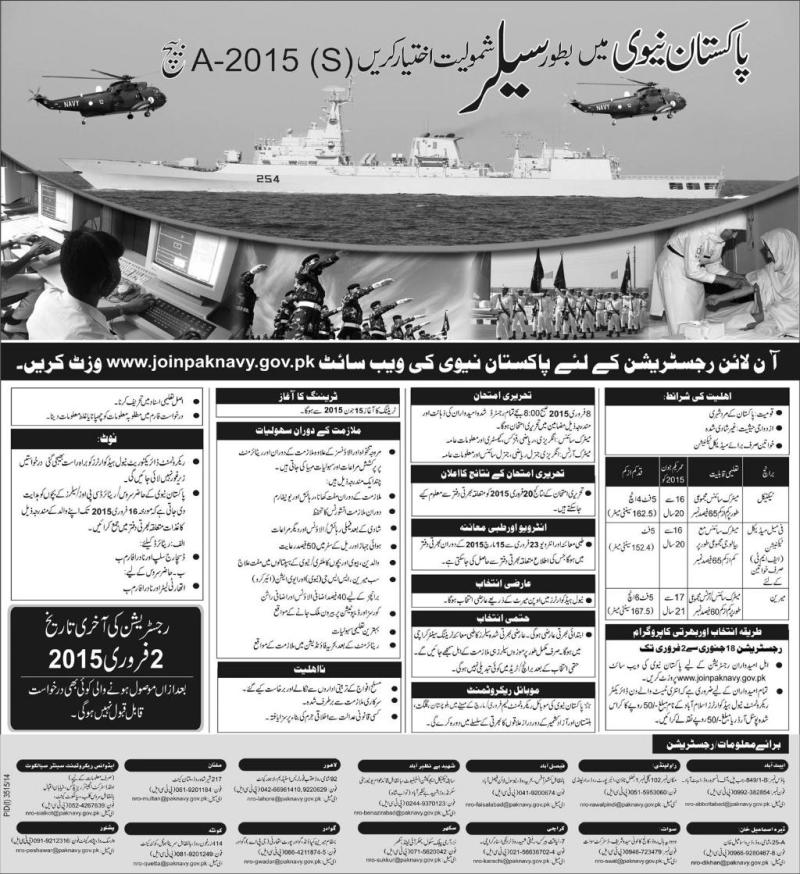 Navy Force Jobs 2015