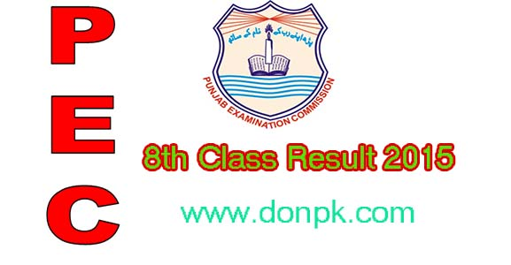 8th Class Result 2015