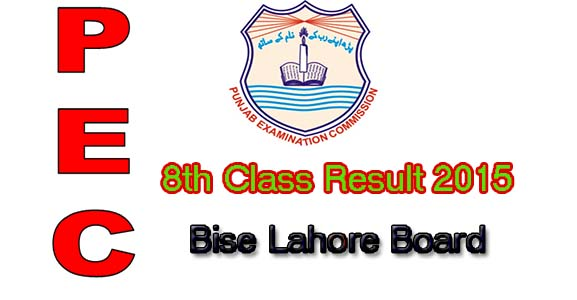 bise lahore board 8th class result