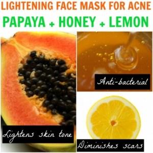 papaya pimple acne skin problems