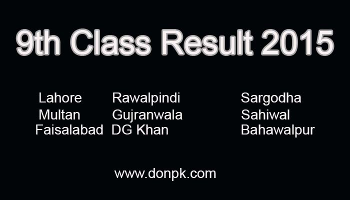 bise result 9th Class 2015