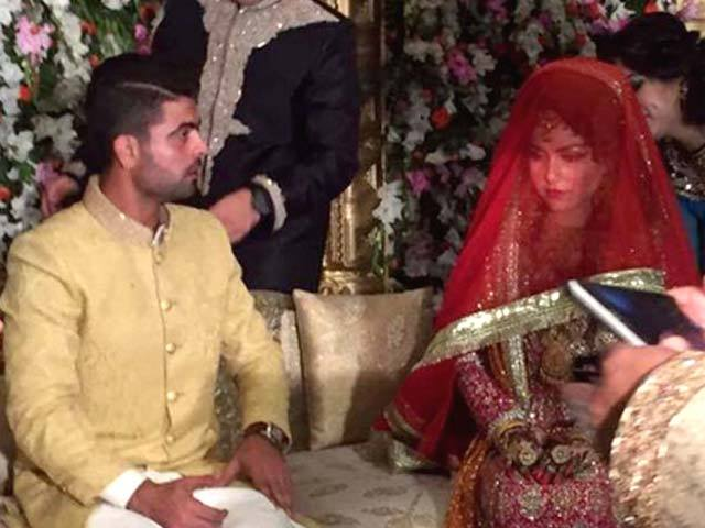 ahmed shahzad Sana Marriage pictures