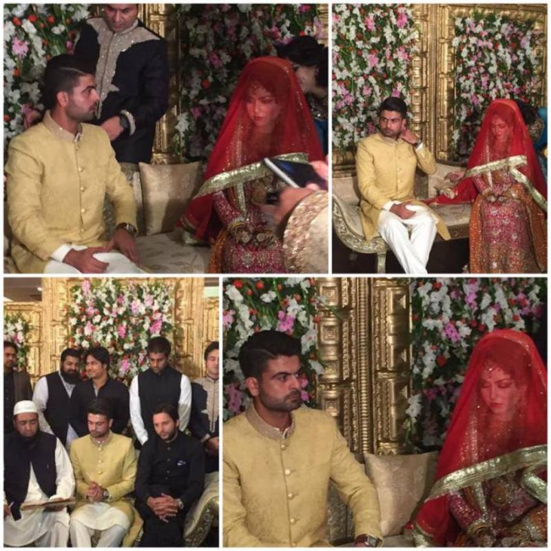 ahed Shahzad Shadi Picturs with his wife